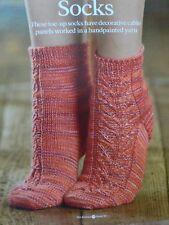 Cable Panel Socks Knitting Pattern