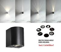 Designer LED Outdoor Wall light Canto Nordlux 6W 3000K wall light black IP44