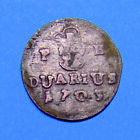 Silver Coin 1703 1 Duarius Leopold I Hungary Medieval Very Rare Scarce