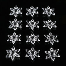 12 x Christmas Snowflakes Ornaments Festival Party Xmas Tree Hanging Decoration