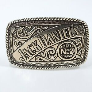 2005 Jack Daniels 5007JD Old No. 7 Silver Pewter Tone Belt Buckle Rectangle