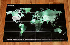 Tom Clancy's Splinter Cell: Blacklist Map / Poster 59x42cm Xbox 360 PlayStation3