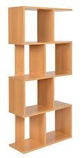 ts-ideen Libreria Mensoliera 130x60 cm color Rovere con 8 vani