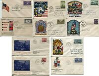 USA PATRIOTIC WWII FDC Cachet FIRST DAY ISSUE Postage Stamp Cover Collection