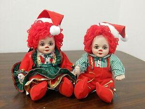 "JINGLES & BELLE Marie Osmond 5"" Seated Rag Doll Style Porcelain Christmas Dolls"