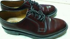 MENS LOAKE BURGUNDY LEATHER PLAIN GIBSON LACE UP FORMAL SHOES 771T size 8