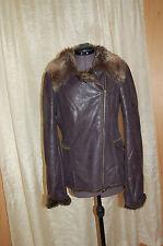 Armani Teen Brown Foux Fur Side Zipper Jacket Coat Size 16 A Teen/178 cm Beauty