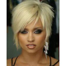 Spiffy Short Capless Fluffy Straight Synthetic Outstanding Light Blonde Wig Hair