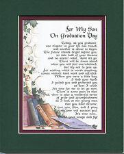#141 Gift Present Keepsake Poem for your son's graduation day