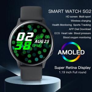 Microwear SG2 Sports Smart Watch ECG PPG Heart Rate Wireless Charging Waterproof