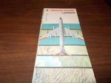 1962 American Airlines Original Vintage Route Map