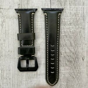 For Apple Watch Series 7 6 SE 5 42/44/45mm Genuine Leather watch Strap Band - UK