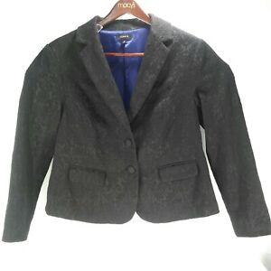 Torrid Womens Plus Size Black Lace Overlay Jacket/Blaze Size 2 Purple Full Lined