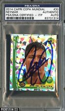 2014 Capri Copa Mundial #30 Neymar AUTO PSA/DNA CERTIFIED AUTHENTIC