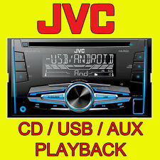 JVC CAR/VAN CD/MP3, FRONT AUX & USB INPUT, DOUBLE DIN STEREO FM RADIO NEW