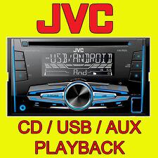 JVC Voiture / Van CD / MP3, face aux & entrée usb, double din stéréo fm radio new