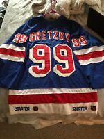 Rare Vintage Starter NHL NY Rangers Wayne Gretzky Jersey Set 2 98-99 Season