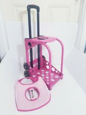 Pink Great Condition ZUCA BAG FRAME w/ LIGHT UP WHEELS & Cushion