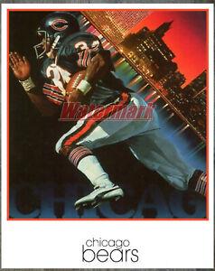 Vintage NFL Chicago Bears Color Poster Print 8 X 10 REPRINT Photo Picture