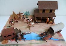 NewRay Farmhouse Covered Wagon Stagecoach Cowboys Horses + Other Brands 22 Pcs!