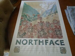Vintage Northface David Lance Goines 1980 Mt.Flower Poster