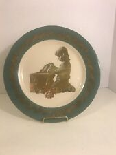 Vtg 1972 Christmas Morning Plate Artist Elizabeth N. Weistrop Half Moon Bay Ca