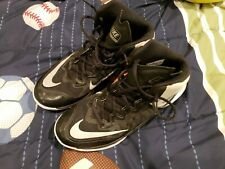 Nike Mens Prime Hype DF II 2 Black White Basketball High Tops, used barely worn