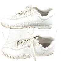 Cobbie Cuddles White Comfort Shoe Walking Leather Womens Size 8M.