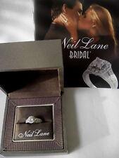 New Designer Neil Lane 14KW 5/8TDW Round Halo Semi Mount Engagement Ring Size 7