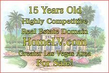 15 Years Old Highly Competitive Real Estate Domain Las Vegas Area - HomeLV.com