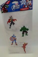 Marvel Avengers Christmas Holiday Gel Clings Thor Captain America Hulk Ironman