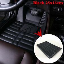 Black PVC Rubber Floor Carpet Mat Patch Foot Heel Plate Pedal Pad Cover For Car