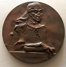 Jan Długosz Polish Priest Chronicler Diplomat Soldier Bronze medal 70 mm / N142