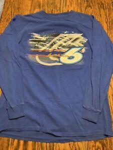 MARK MARTIN NASCAR Graphic Long Sleeve Tshirt Rousch Racing Adult XL RARE/EXC.!