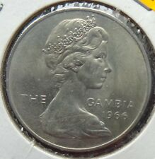 1966 THE GAMBIA  Two (2) Shillings Coin  Uncirculated      (Y-03)