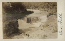 Portage NY Lower Falls c1910 Real Photo Postcard
