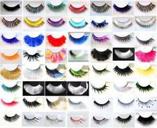 Eulenspiegel künstliche  Wimpern  Wimpernverlängerung schwarz weiß multicolor