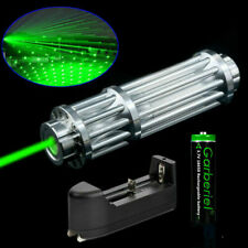 Tactical 1W 532nm Green Laser Pointer Pen Zoom Visible Beam Light +18650 Charger