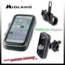 CUSTODIA MOTO PER SMARTPHONE MIDLAND MK IPHONE 4 C1102 CON STAFFE FISSAGGIO