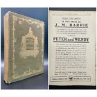 Peter and Wendy - FIRST EDITION - 1st Printing - Seal - BARRIE October 1911 Pan
