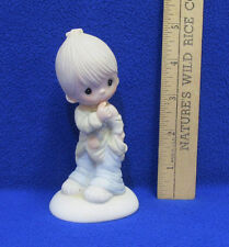 Vintage 1978 Precious Moments Figurine Smile God Loves You Poor Boy Old Clothes