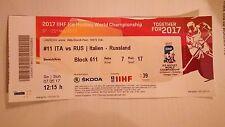 WM 2017 Deutschland Eishockey Tickets gebraucht ITA - RUS, USA - RUS