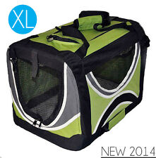 PREMIUM PORTABLE PET DOG/CAT TRAVEL CARRIER CRATE TOTE CAGE FOLDING KENNEL 82CM