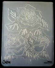 Sizzix Large Embossing Folder ROSES WITH LEAVES fits Cuttlebug Wizard 4.5x5.75in
