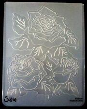 Sizzix grande carpeta de grabación en relieve Rosas con Hojas se ajusta Cuttlebug Wizard 4.5x5.75in