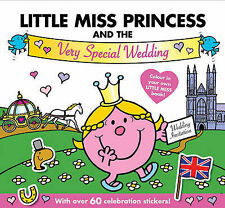 NEW  LITTLE MISS PRINCESS the SPECIAL WEDDING colouring, stickers CREASED COVER