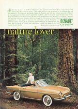 1961 Renault Caravelle Convertible at the Woods  PRINT AD
