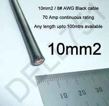 10mm2 / # 8 AWG BLACK BATTERY CABLE 70AMP 840WATTS RATED 1 mtr