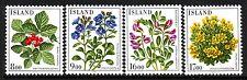 Iceland Sc# 602-05 VF Mint NH Set, Flowers