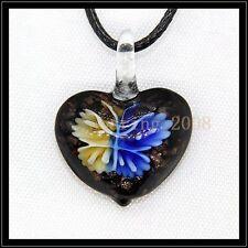 2016 New Love lampwork Murano art glass beaded pendant necklace BB82